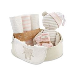 Baby Aspen 10 pc Pink & Beige Welcome Home Baby Gift Set