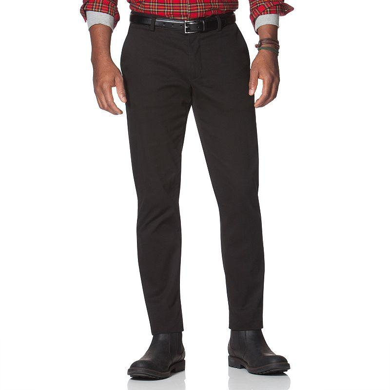 Men's Chaps Classic-Fit Twill Flat-Front Pants