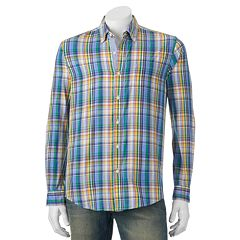 Men's Michael Brandon Southern Vintage Green Plaid Button-Down Shirt