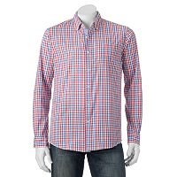 Men's Michael Brandon Southern Vintage Red Plaid Button-Down Shirt