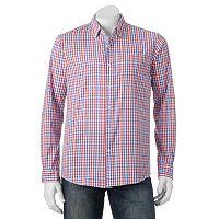 Men's Michael Brandon Southern Vintage Red Plaid Button-Down Shirt