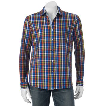 Men's Michael Brandon Southern Vintage Plaid Button-Down Shirt