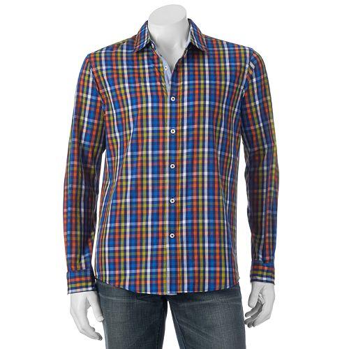 Men's Michael Brandon Southern Vintage Plaid Button-Down Shirt