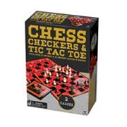Cardinal Games Classic Chess, Checkers & Tic Tac Toe