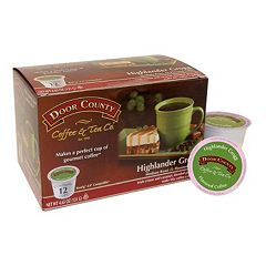 Door County Coffee & Tea Co. Single-Serve Highlander Grogg Medium Roast Coffee - 12-pk.