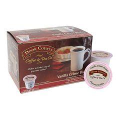 Door County Coffee & Tea Co. Single-Serve Vanilla Crème Brulee Medium Roast Coffee - 12-pk.