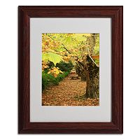 Trademark Fine Art ''Autumn'' Brown Matted Framed Wall Art