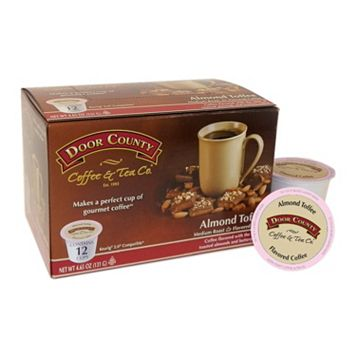 Door County Coffee & Tea Co. Single-Serve Almond Toffee Medium Roast Coffee - 12-pk.
