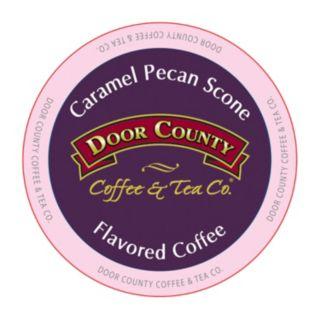 Door County Coffee & Tea Co. Single-Serve Caramel Pecan Scones Medium Roast Coffee - 12-pk.