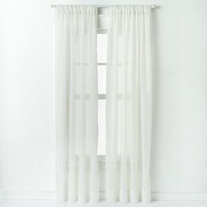 Window Curtainworks 1-Panel Trinity Crinkle Voile Window Curtain