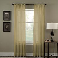 Window Curtainworks Trinity Crinkle Voile Window Curtain