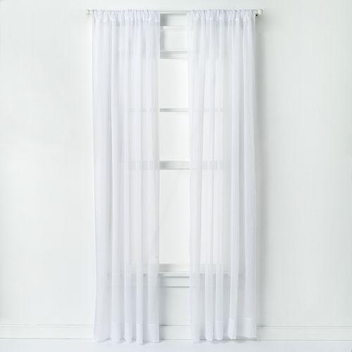 Window Curtainworks 1-Panel Trinity Crinkle Voile Window Curtain