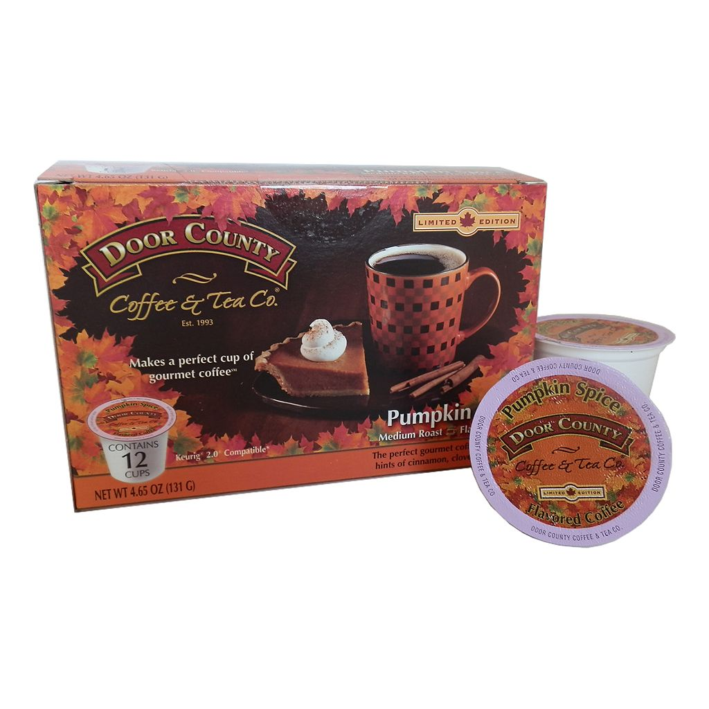 Door County Coffee & Tea Co. Single-Serve Pumpkin Spice Medium Roast Coffee - 12-pk.