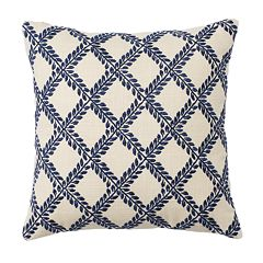 Chaps Beauport Wisteria Embroidered Throw Pillow