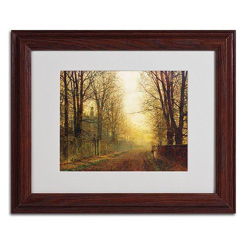 Trademark Fine Art ''Whitby'' Brown Framed Matted Art