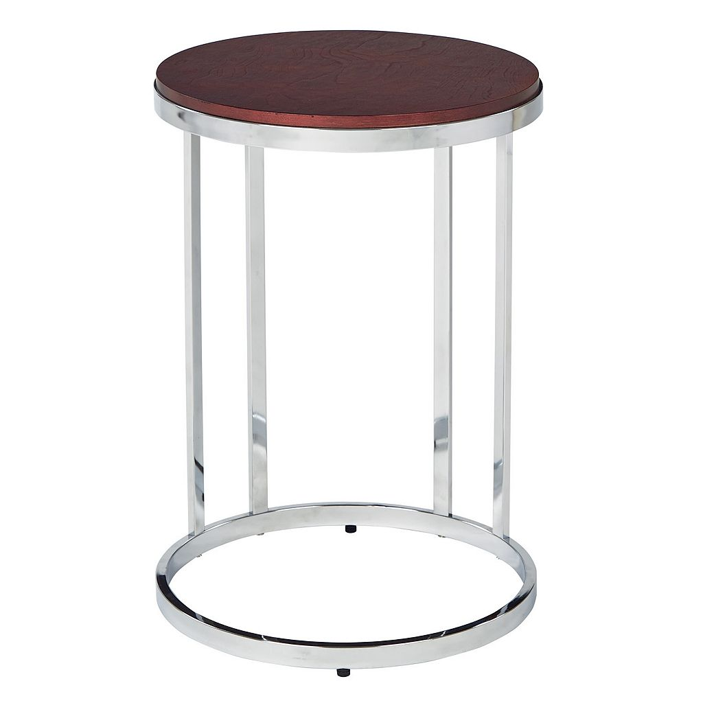 OSP Designs Alexandria Round Side Table