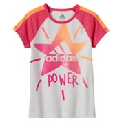 Toddler Girl adidas Star Logo 'Power' Tee