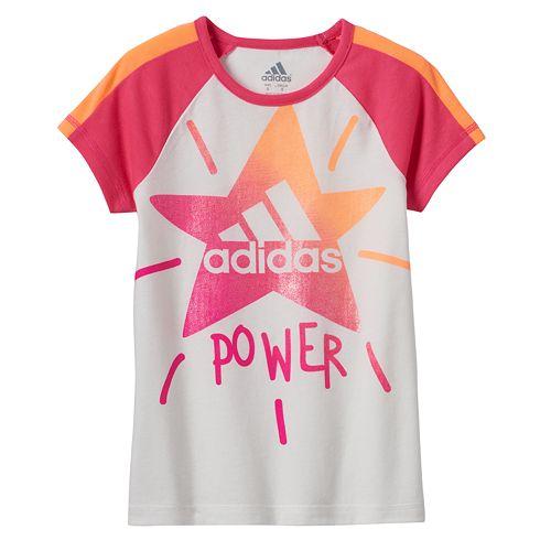 """Toddler Girl adidas Star Logo """"Power"""" Tee"""