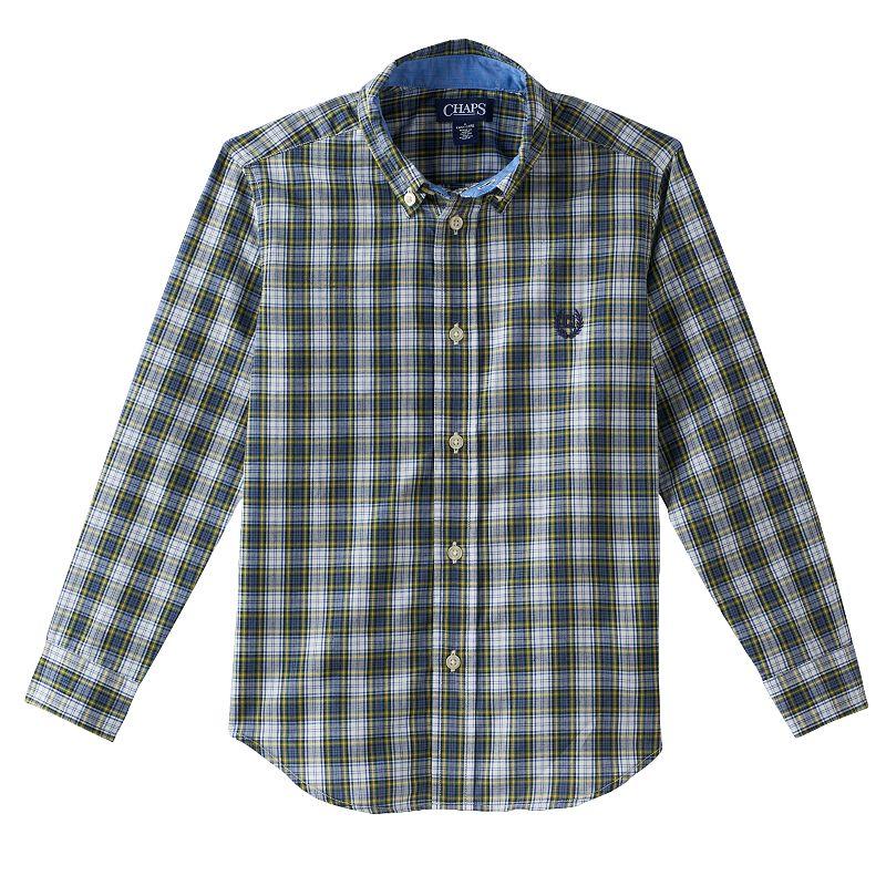 Toddler Boy Chaps Long Sleeve Plaid Button-Down Shirt