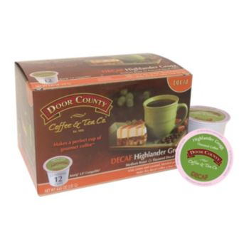 Door County Coffee & Tea Co. Single-Serve  Highlander Grogg Decaf Medium Roast Coffee - 12-pk.