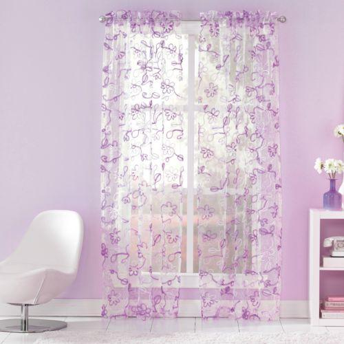 CHF Ribbon Trim Sheer Curtain