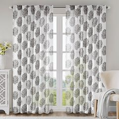 Madison Park 1-Panel Addison Anthro Window Curtain
