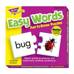 TREND enterprises, Inc. Easy Words Fun-to-Know Puzzles