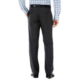 Men's Haggar Melange Slim-Fit Flex-Waist Pants