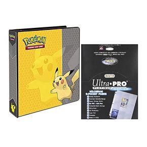 Ultra Pro Pokémon Pikachu Card Album & 9-Pocket Sheets Set