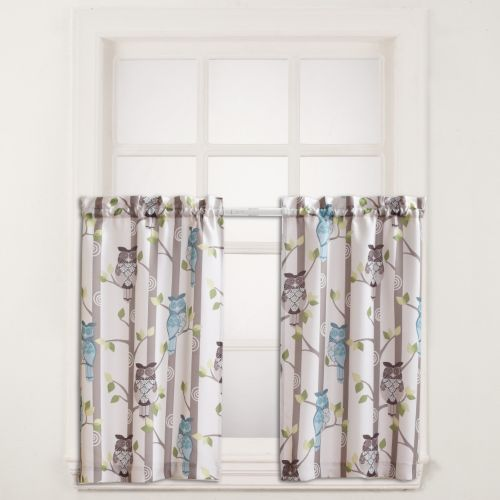 No918 Hoot Tier 2-pk. Curtains