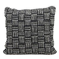 Joseph Abboud Geometric Basketweave Throw Pillow