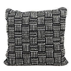 Mina Victory Geometric Basketweave Throw Pillow