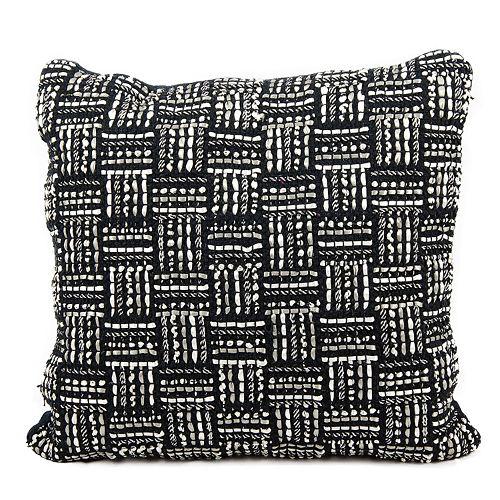 Mina Victory Geometric Basketweave Throw Pillow