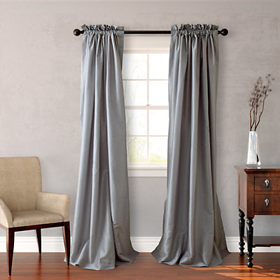 Heritage Landing Solid Lined Window Curtain Pair
