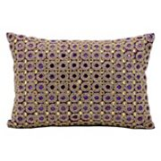 Kathy Ireland Beaded Circles Throw Pillow