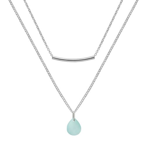 Lc Lauren Conrad Multistrand Bead & Curved Bar Necklace by Kohl's