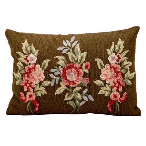 Kathy Ireland Floral Bouquet Throw Pillow