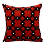 Kathy Ireland Geometric Trellis Throw Pillow