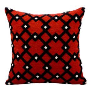 Kathy Ireland Geometric Trellis Throw Pillow