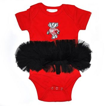 Baby Wisconsin Badgers Tutu Bodysuit
