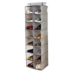 Laura Ashley Non-Woven 16-Pocket Shoe Organizer