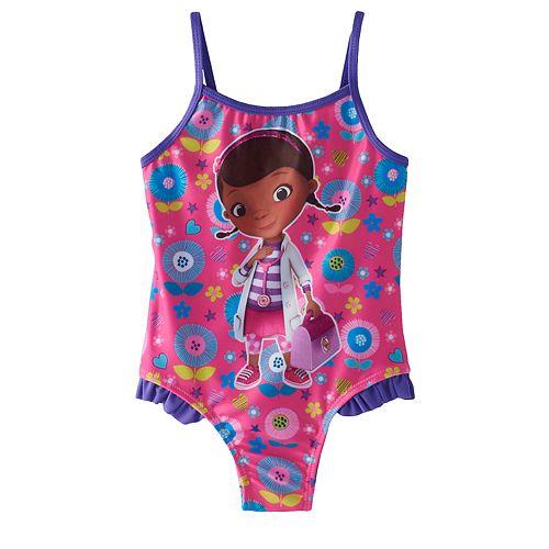 ec06afc07e702 Disney's Doc McStuffins Toddler Girl One-Piece Swimsuit