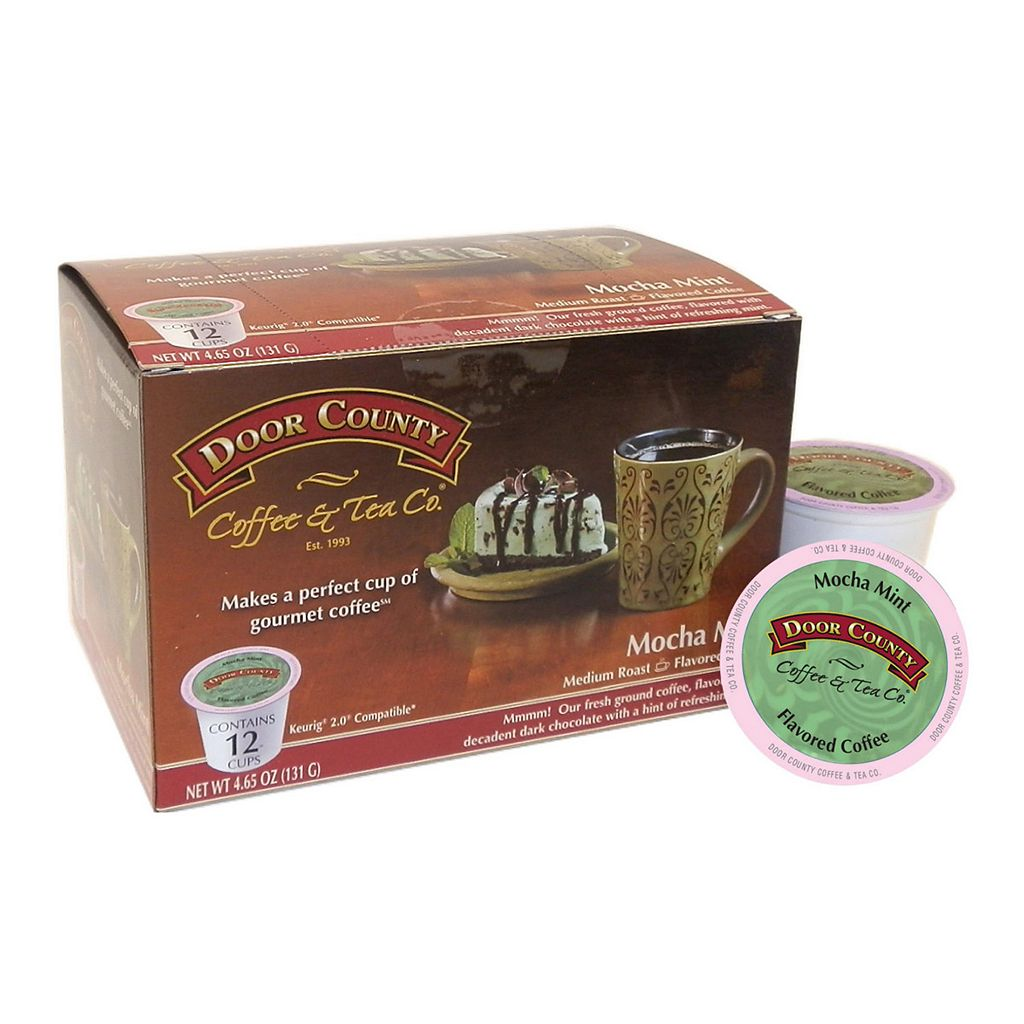 Door County Coffee & Tea Co. Single-Serve Mocha Mint Medium Roast Coffee - 12-pk.