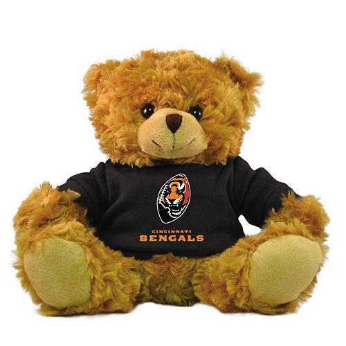 """Bleacher Creatures Cincinnati Bengals 9"""" Rally Men Hoodie Bear"""