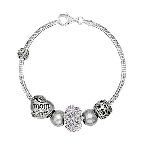 Individuality Beads Crystal Sterling Silver