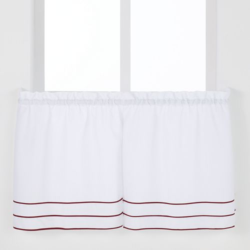 Saturday Knight, Ltd. Anna Pleated Tier Kitchen Window Curtain Set