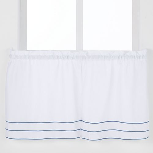 Saturday Knight, Ltd. Anna Pleated Tier Kitchen Window Curtain Set