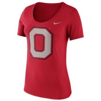 Women's Nike Ohio State Buckeyes Logo Scoopneck Tee