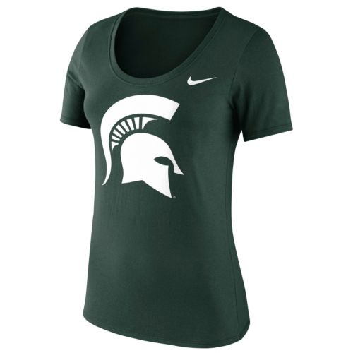 Women's Nike Michigan State Spartans Logo Scoopneck Tee