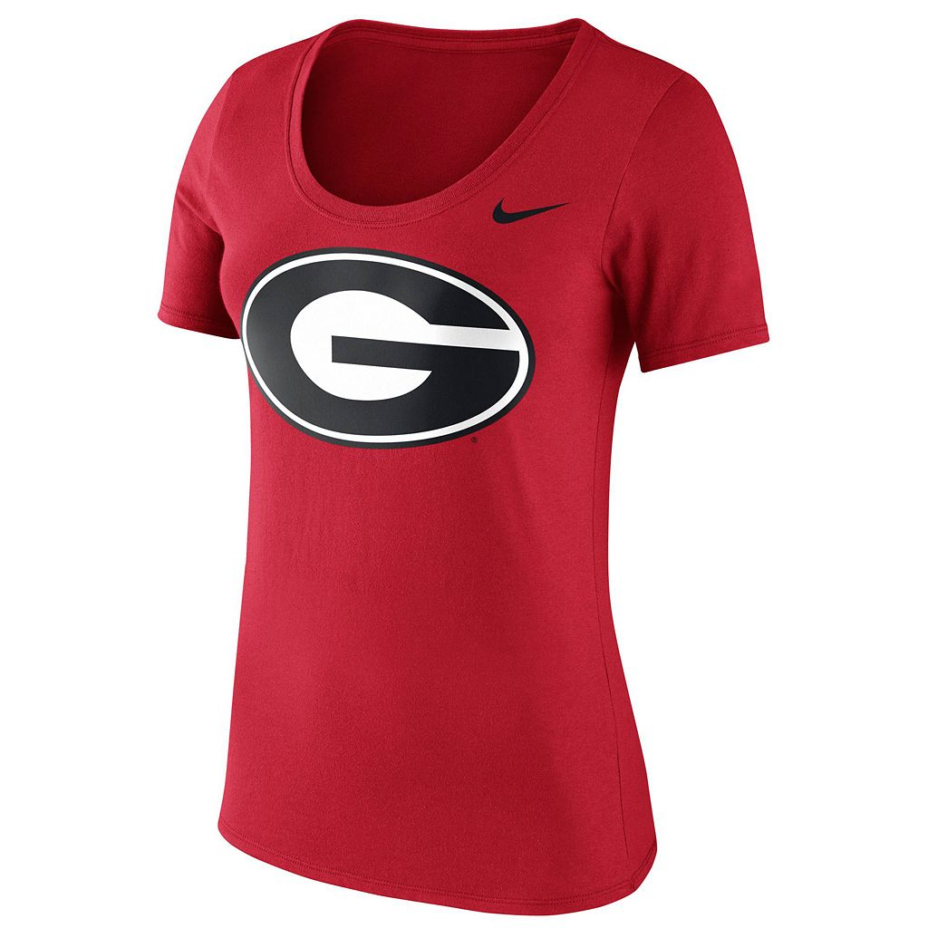 Women's Nike Georgia Bulldogs Logo Scoopneck Tee